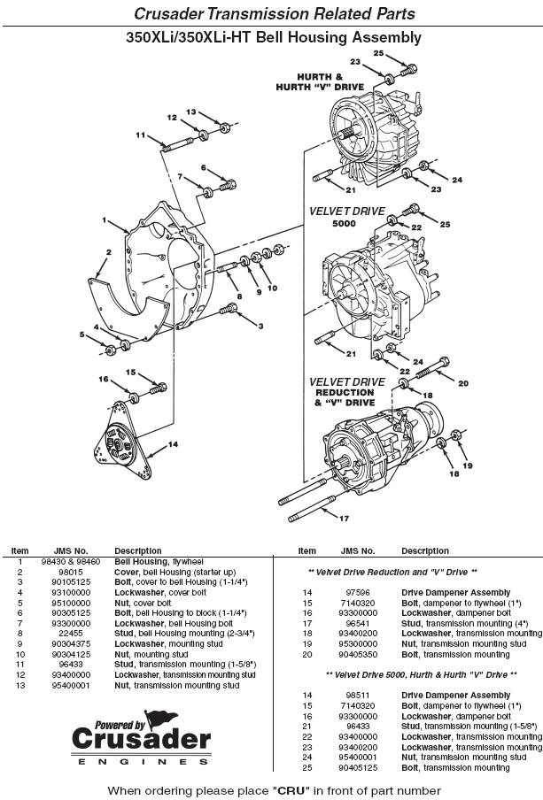 Crusader Engine Parts 350XLi 350XLi HT Flywheel Housing