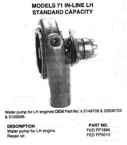 DETROIT DIESEL 71 SERIES WATER PUMPS