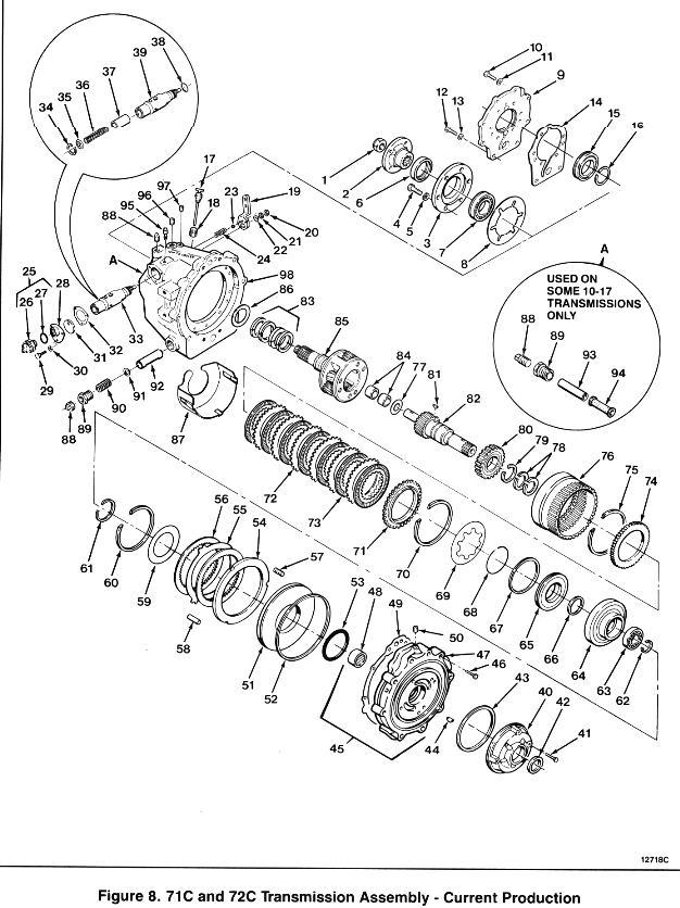 Borg-Warner Velvet Drive 71C, 72C Marine Transmission Assembly
