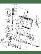 Evinrude / Johnson perän varaosat perämoottorille, rattaat