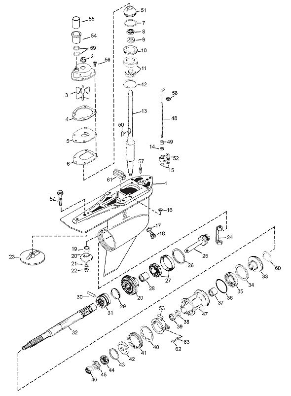 alpha one sterndrive parts diagram ceiling fan switch wiring australia exploded view - gen ii marine house