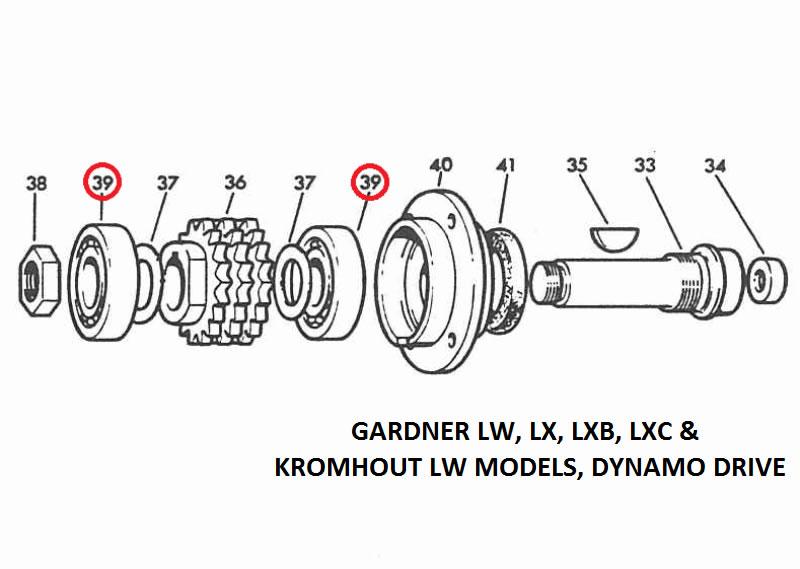 Gardner LW,LX,LXB,LXC,L3,L3B & Kromhout LW, LS Ball