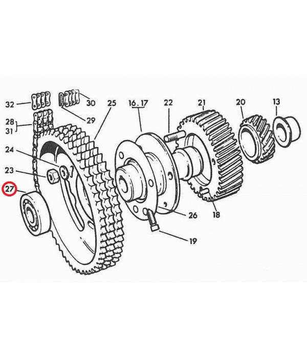 Gardner Kromhout LW, LS Engine Camshaft End Ball Journal