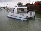 SW catamaran_on water