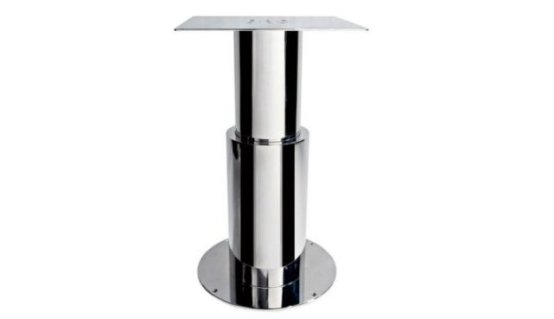 Gamba tavolo tonda in acciaio inox