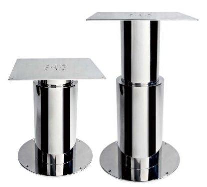 Supporto tavolo elettrico in acciaio a due sezioni tonde
