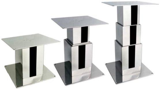 Electric square pedestal