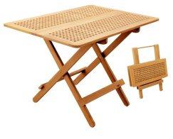 Tavolo in massello di teak pieghevole