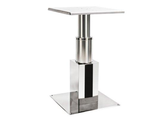 Supporto tavolo elettrico in acciaio e alluminio con sez. Quadra