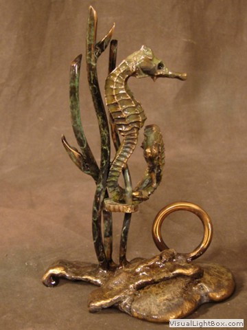 Bronze Card Hoolders Sculptures