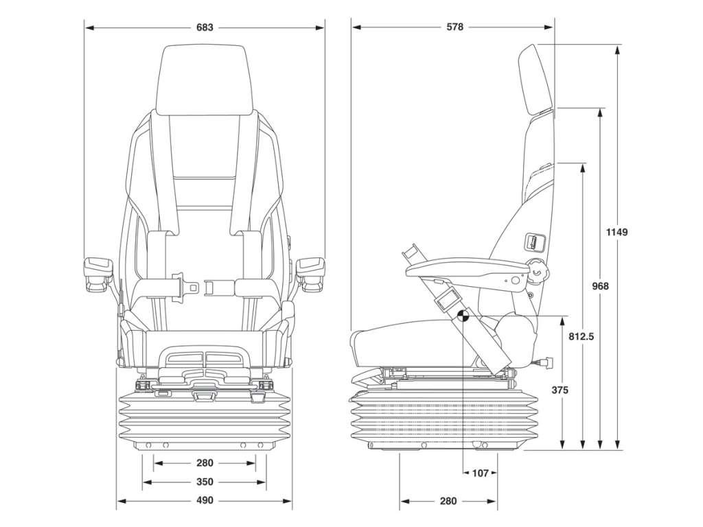 Marine Seats Safety Harness Integral