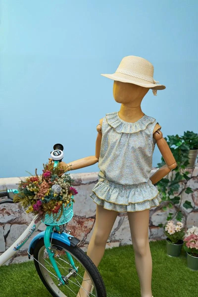 Blusa y culotte volantes niñas - Liberty Millie en jardin