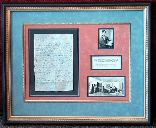 Custom Matting and Frames for Art Memorabilia  Novato CA  Rousseaus Fine Art Framing
