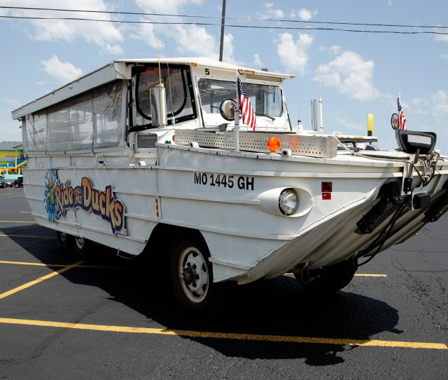 A Duck Boat Sits In The Parking Lot Of Ride The Ducks An Amphibious Tour Operator In Branson Mo On Friday Charlie Riedel The Associated Press