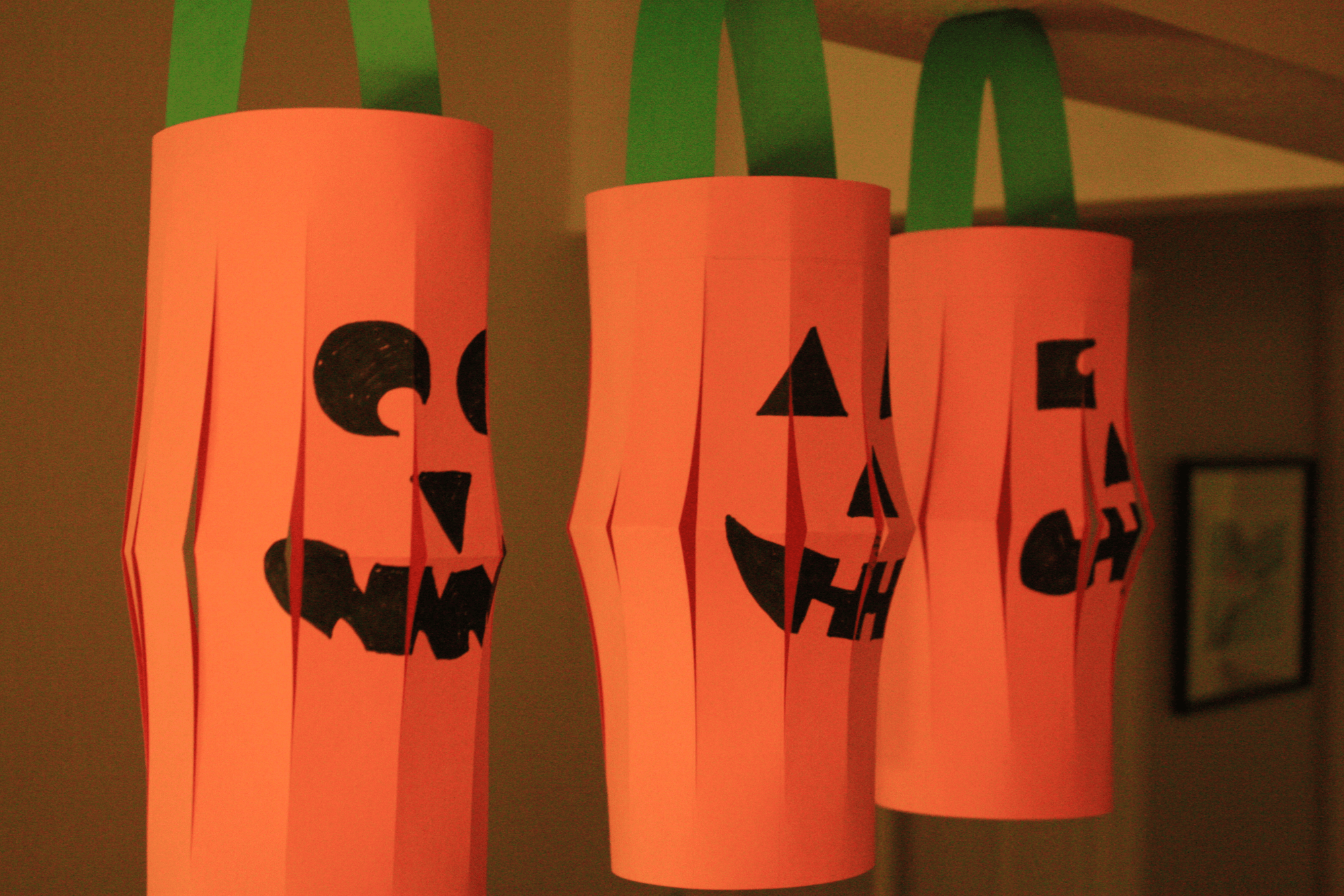 Halloween Craft Project Paper Jack O Lanterns
