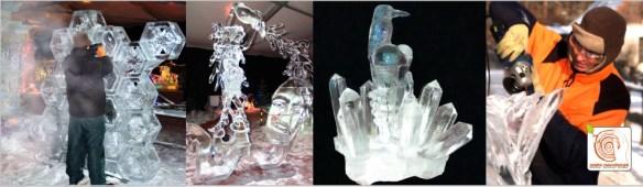 Eissklupturen in einer Live Show erschaffen!