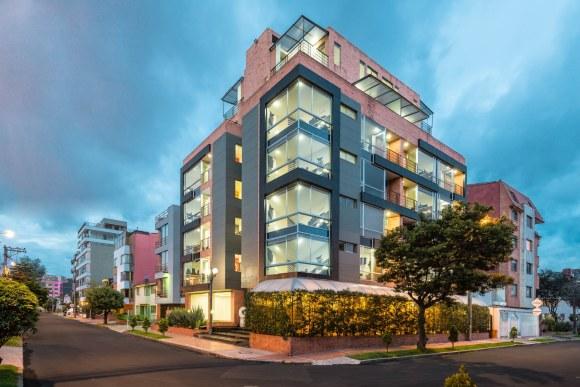 Fachada de edificio en Bogotá.