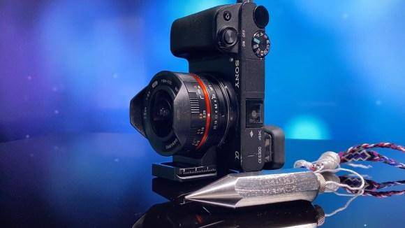 Camara-Sony a6300 Samyang 7,5 mm ojo de pez plomo de albanil phillopod