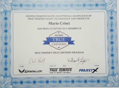 True Temper True Certified Fitter