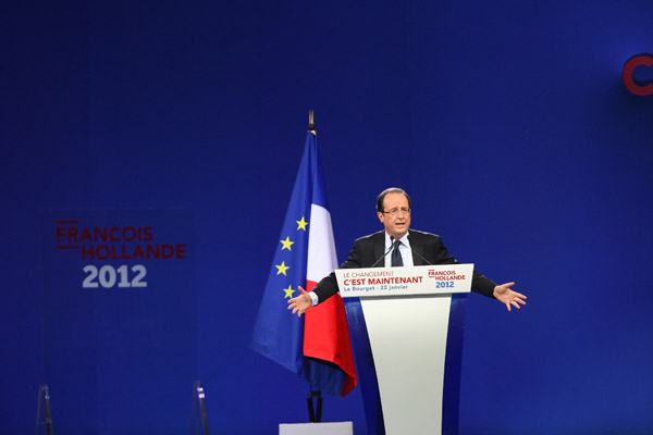 Premier grand meeting national de Franois Hollande (Parti Socialiste) - PréŽsidentielles 2012