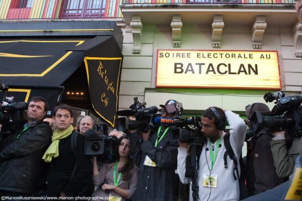 EELV - Soirée électorale du premier tour des présidentielles au Bataclan, Paris