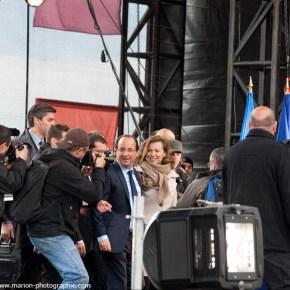 Grand Rassemblement de François Hollande, candidat aux élections présidentielles, sur l'esplanade du Château de Vincennes, 15/04/2012