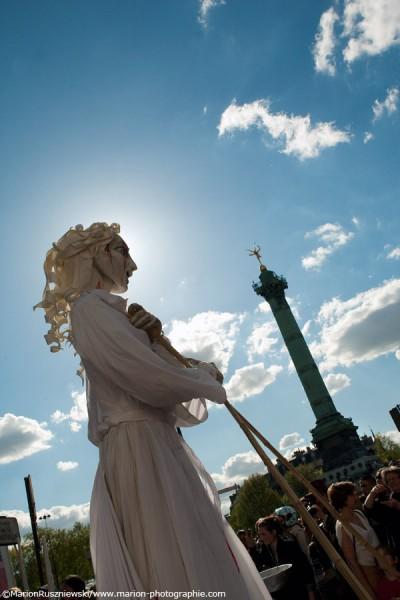 DéŽfiléŽ du 1er mai ˆ2012 à Paris