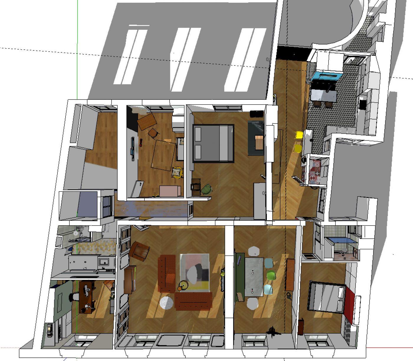 Dcoration et rnovation dun appartement haussmannien de 180m2