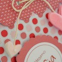 Bomboniera scatola pois rosa