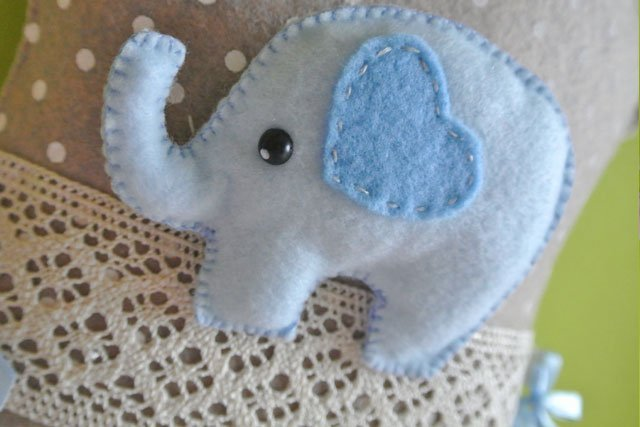 Fiocco nascita casetta elefantino