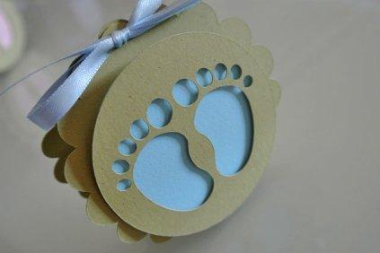 bomboniera scatolina tonda piedini