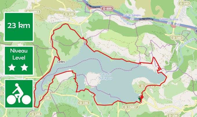Cycling around the Salagou lake