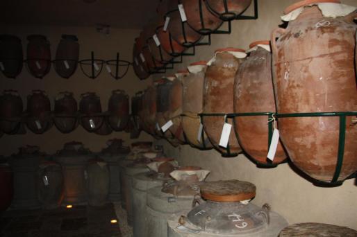 photos of some Amphoras to make Lebanese Arak