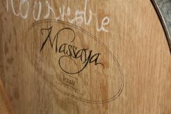Photo of a wine barrel at Massaya