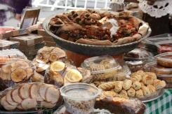 Lebanese food at the market in Beirut