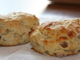 two perfectly fluffy scones