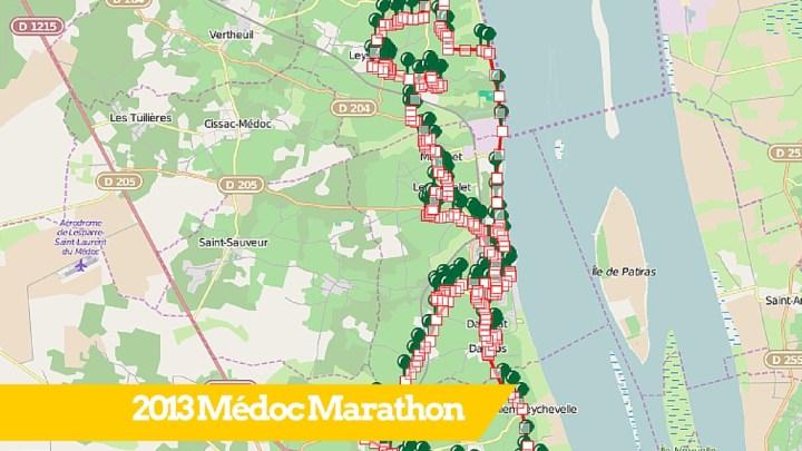 Parcours du marathon du Médoc 2013 (traces GPS téléchargeables)