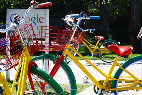 google bikes in Mountain View