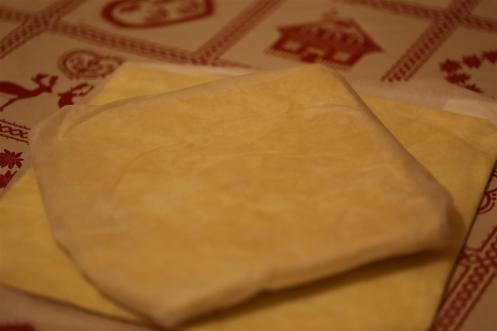 détrempe et beurre farine pour la pâte feuilletée inversée