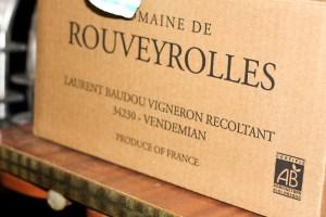 carton de vin du Mas de Rouveyrolles