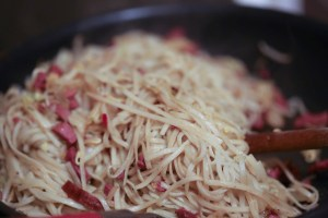 Chinese noodle with duck
