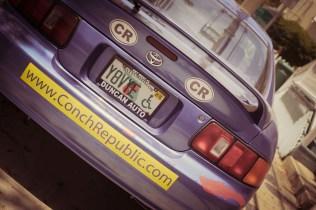 Conch Republic car in Key west
