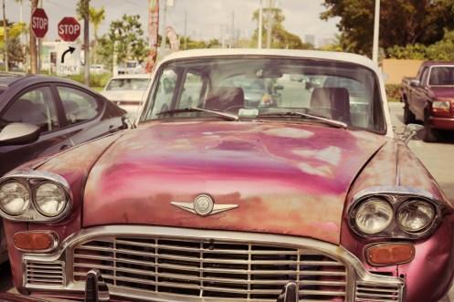 Old cuban car in Little Havana
