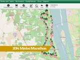 Médoc Marathon detailed Route Map 2014