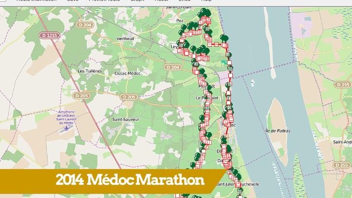 30st Medoc Marathon route map (2014)