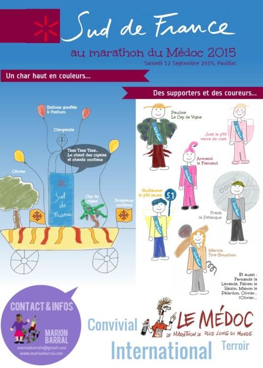 Esquisses pour le PROJET Sud de France au marathon du Médoc 2015
