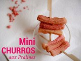 Mini Churros aux Pralines roses | Mini churros with pink pralines