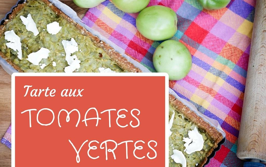 Pour terminer l'été : Tarte aux tomates vertes, sur une pâte brisée pois-chiche et cumin