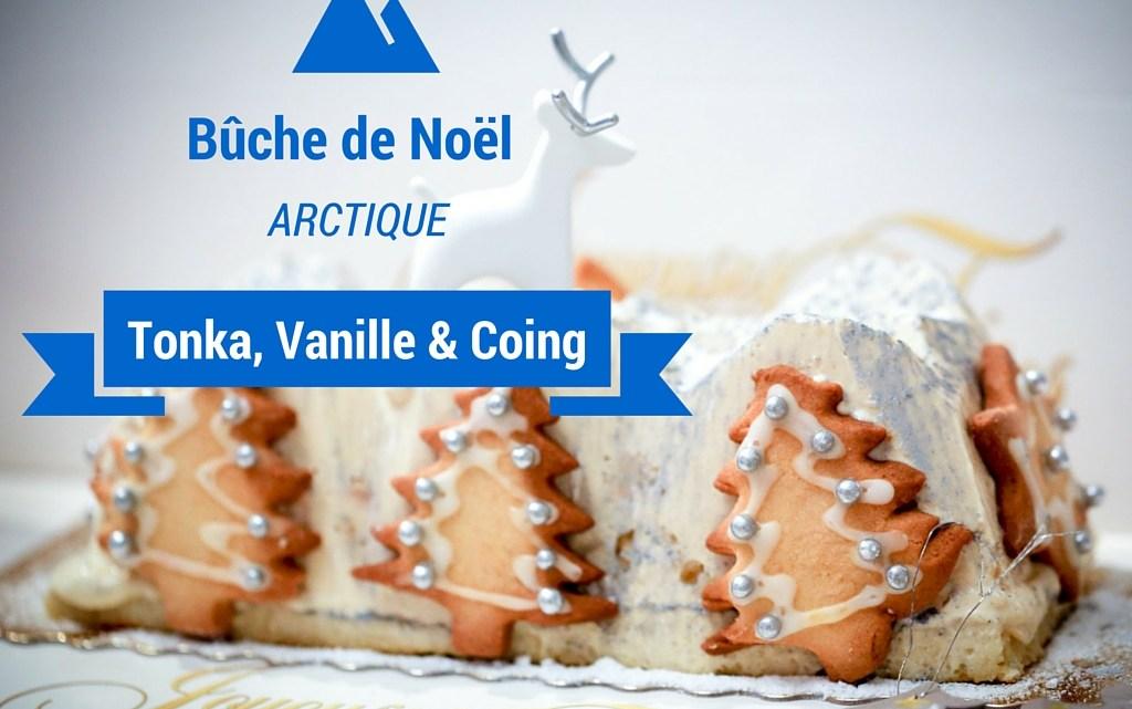 """(Français) Bûche de Noël """"Arctique"""" : Vanille tonka et coing"""