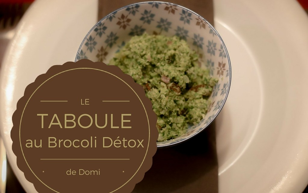 My friend Domi's Detox Brocoli Tabbouleh